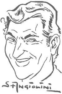 Sandro Angiolini in un autoritratto