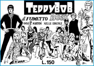 Pubblicità su Diabolik e Zakimort in occasione dell'uscita del primo numero di Teddy Bob