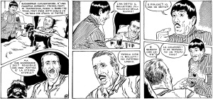 Uno sketch completo disegnato da Luciano Bernasconi (Lube) tratto dal primo numero di Pappagone