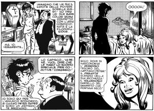 Tavole tratte dal primo numero in cui Peter incontra la coprotagonista della serie, Orchidea