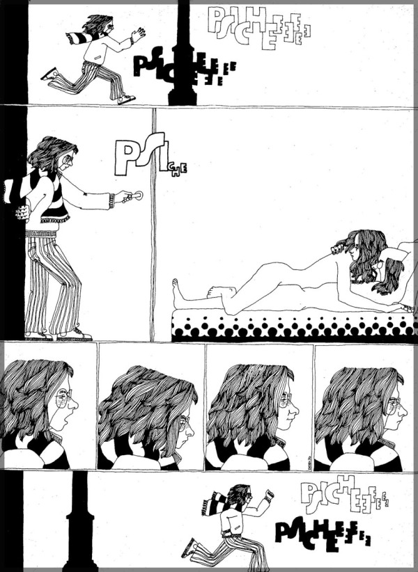Tavola di una storia scritta da Bono per la rivista Horror negli anni Settanta, disegni di Diddi Bozano