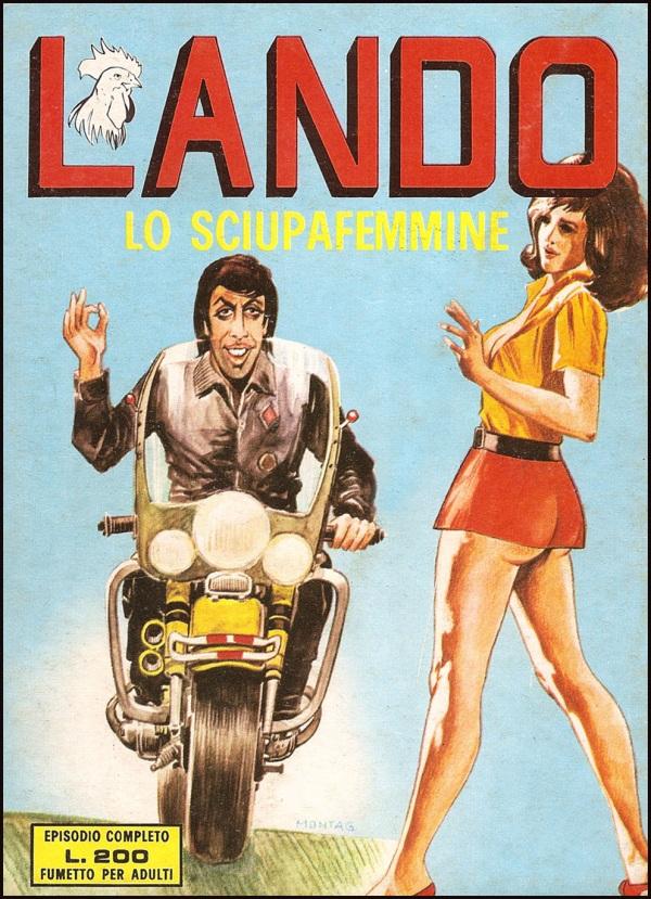 Copertina di Giuseppe Montanari per Lando, Edifumetto, 1973