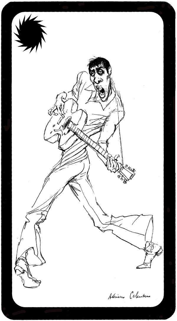 Adriano visto dall'illustratore Walter Molino