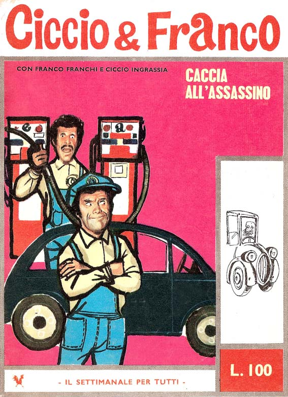 Copertina dell'ultimo albo (n.16) di Ciccio & Franco