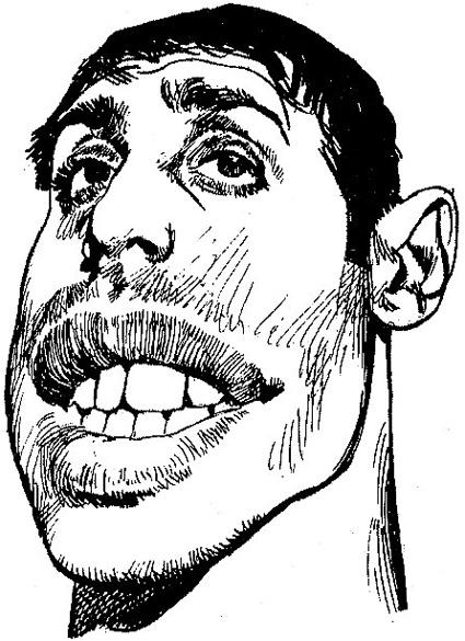Celentano in un ritratto di Aldo Di Gennaro, Corriere dei Piccoli, 1972