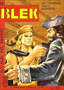 Copertina per l'edizione in libretto di Blek