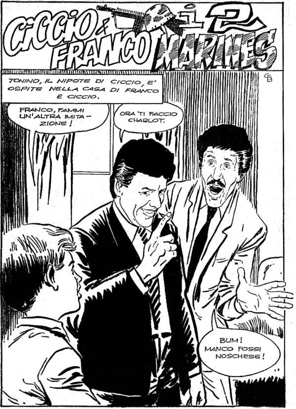 Tavola iniziale di una delle sedici storie disegnate da Bernasconi