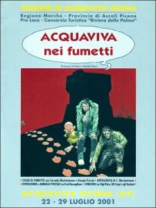 Copertina del catalogo Acquaviva nei Fumetti del 2001, dedicata in parte a Fred Buscaglione, mostra in cui sono stati esposti i ritratti che qui pubblichiamo.