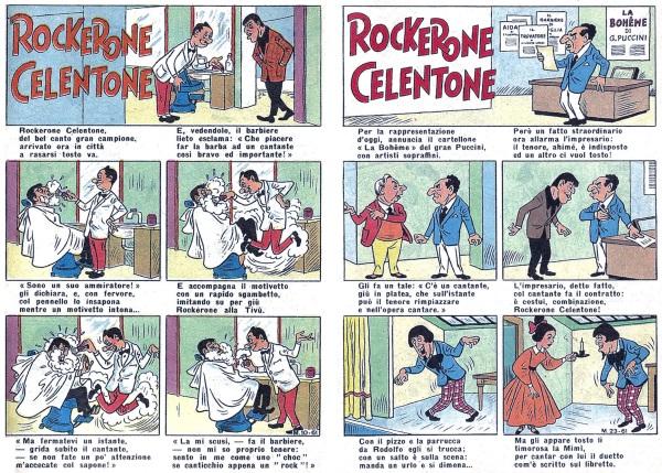 Tavole iniziali di altre due brevi storie di Rockerone Celentone di Manca