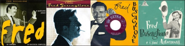 Alcune copertine dei 45 giri di Fred Buscaglione
