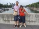 Nick e Simo sul ponte della Senna