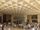 Particolare dell'interno dell'ingresso del Luovre