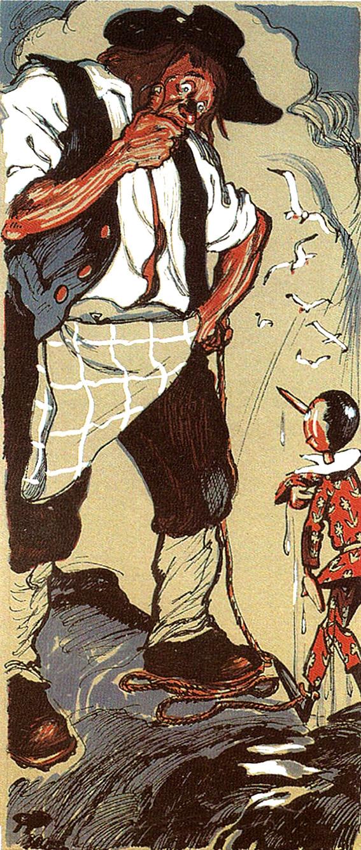 Il Pinocchio di Beppe Porcheddu (editore Paravia, 1942)