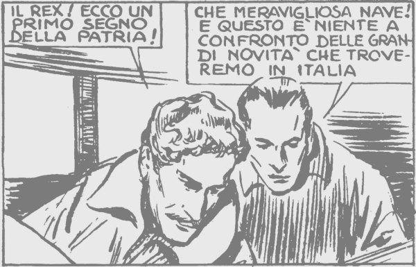 Sempre per Mondadori, Molino disegna Luciano Serra pilota (1939), quest'ultimo tratto dal film con Amedeo Nazzari