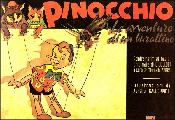 l Pinocchio di Galep, creatore grafico anche del Tex di Bonelli (editore Nerbini, 1947)