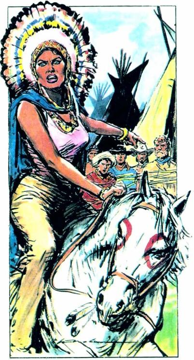 Dal 1946 al 1949, Molino collabora con il settimanale Salgari, per il quale disegna alcune riduzioni di romanzi western fra cui La Scotennatrice