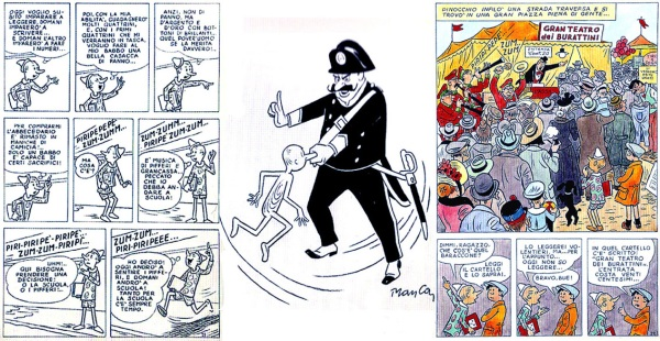 Pinocchio a fumetti disegnato dal sardo Giovanni Manca (editore Gino Sansoni, 1967)