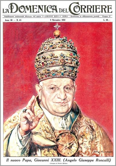 Copertina del novembre 1958 quando Giovanni XXIII diventa papa