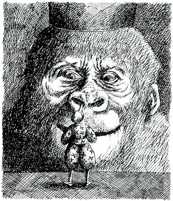 Pinocchio nella versione di Roland Topor (editore Olivetti, anni '80)