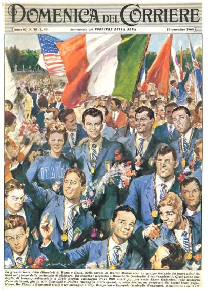 Copertina in occasione delle Olimpiadi di Roma del 1960