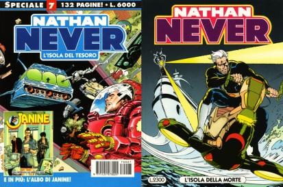 Isole del tesoro e della morte, nel seriale fantascientifico Nathan Never