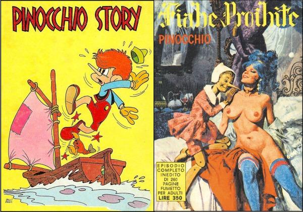 Pinocchio Story di Giuseppe Dellisanti (edizioni Euroamericane, 1974/1976) e Fiabe Proibite (Edifumetto, 1973)