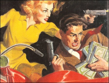 Private Detective Stories (A Straw for the Thirsty), 1945, illustrazione di Richard Lillis