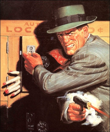 Detective Tales (Eyes Behind the Door), 1947, illustrazione di Rafael de Soto