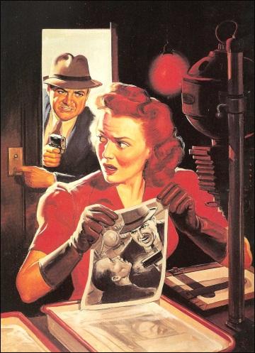 Ten Story Detective, 1938, illustrazione di Norman Saunders