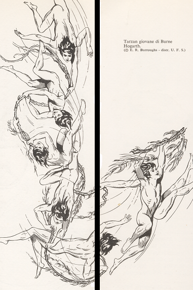 Hogart disegna un giovane Tarzan