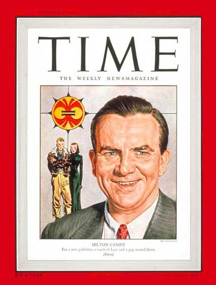 Copertina del settimanale americano Time del gennaio 1947 dedicata a Caniff