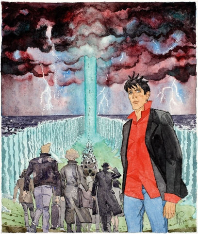 Originale di Angelo Stano, in acquerello e matita, per la copertina d Maxi Dylan Dog n. 4, 2001