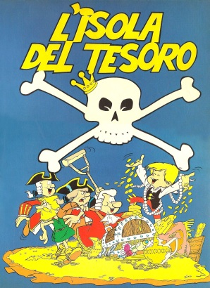 Il protagonista della serie Cesarino interpreta - dopo Moby Dick e Mondo Perduto -  L'Isola del tesoro, testo di Giuseppe Pederiali, disegni di Nino Pagot, Edifumetto Ragazzi, 1975