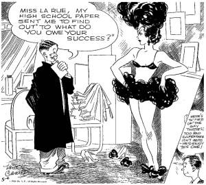 Il primo panel giornaliero di Gay Thirties apparso nel maggio 1933
