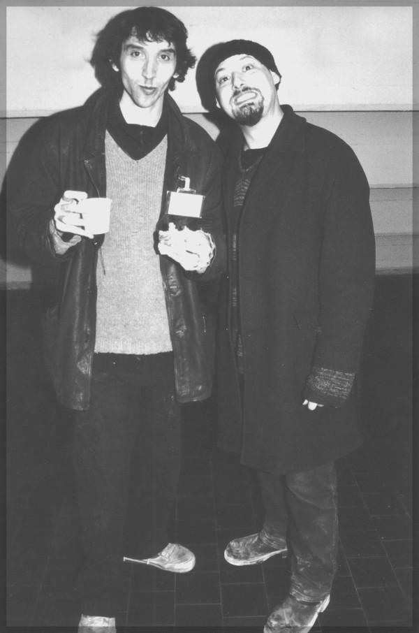 Gipi con l'amico Ausonia in uno foto di Jo Zattere