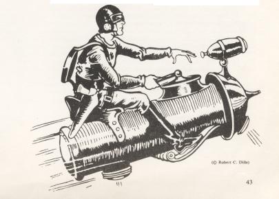 Buck Rogers a bordo del razzo