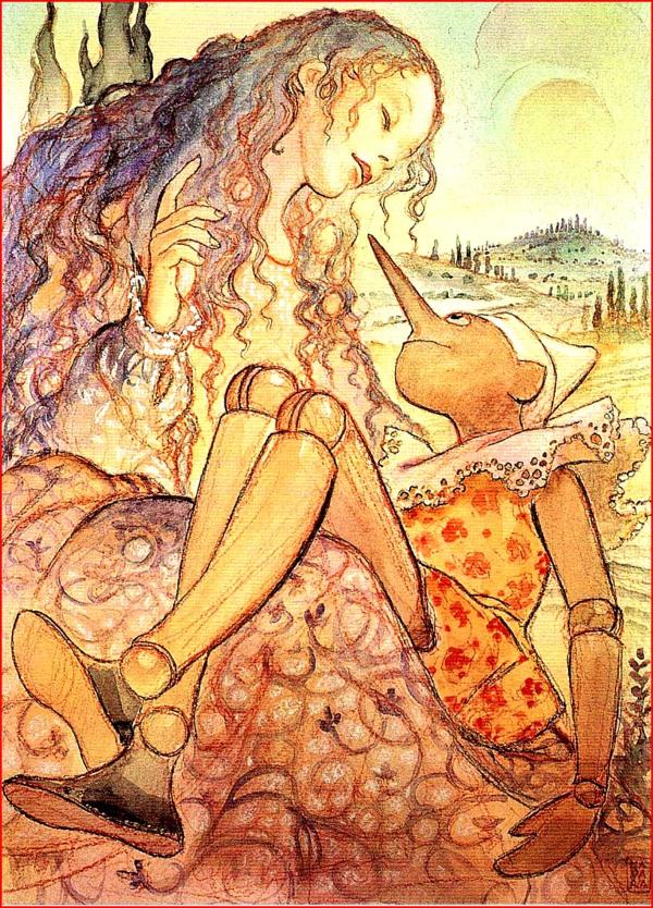 Pinocchio erotico in una illustrazione di Milo Manara