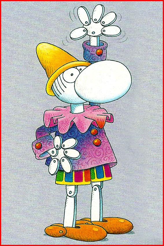 Pinocchio visto dal cartoonist argentino Guillermo Mordillo