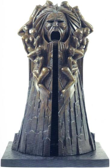 Il Principe, scutura di Druillet, bronzo con zoccolo in ardesia, altezza 54 cm, 1979