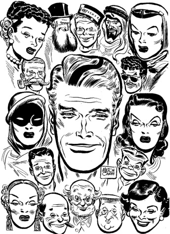 Panel del 1949, Steve Canyon e i comprimari