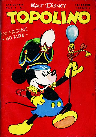 Copertina del primi numero di Topolino libretto formato tascabile, 1949
