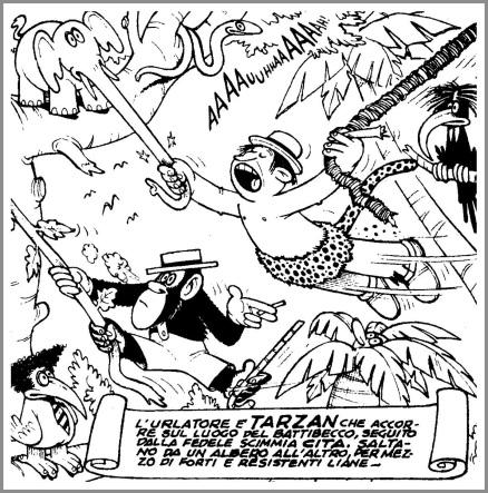 L'Onorevole Tarzan, Gli Albi del Vittorioso, 1951, di Benito Jacovitti
