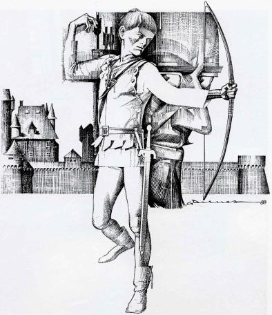 Copertina per La freccia Nera, Il Giornalino, 1988