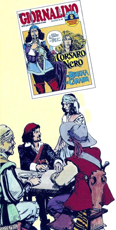 Il Corsaro Nero e La Regina dei Caraibi, due riduzioni da Salgari sceneggiate da Renata Gelardini e pubblicate su Il Giornalino nel 1977 e 1979 entrambe raccolte in volume