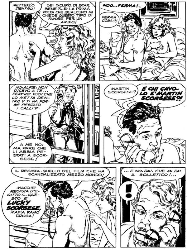 Tavola per Nick Raider n. 8 su testo di Claudio Nizzi