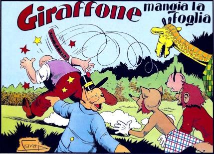 Copertina di un albo con Giraffone per Il Vittorioso