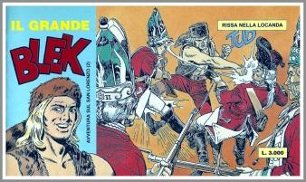 Il secondo di quattro albi in striscia realizzati nel 1995 per i 40 anni de Il grande Blek e dal titolo Avventura sul San Lorenzo su testo di Mario Volta e supervisione di Dario Guzzon