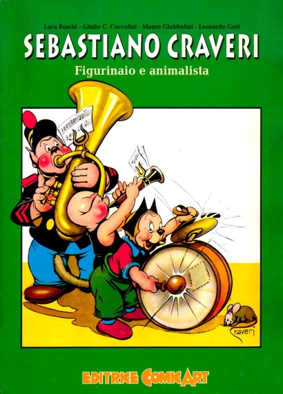 Il saggio Sebastiano Craveri Figurinaio e Animalista edito dalla Comic Art nel 1995 in occasione di una mostra sull'artista