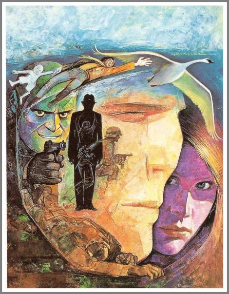 Copertina per una delle storie di Spada pubblicate su Il Giornalino, Fantasmi, 1982