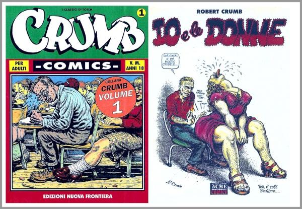 Due volumi su Crumb editi in Italia da Nuova Frontiera e Acme